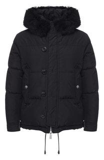 Пуховая куртка на молнии с капюшоном Dsquared2