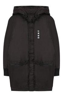 Куртка на молнии с капюшоном DKNY