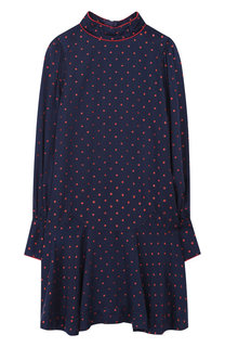 Платье из вискозы с воротником-стойкой Marc Jacobs