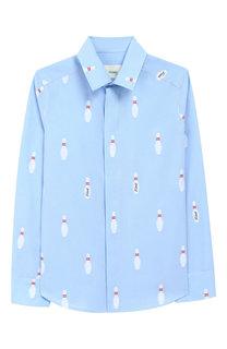 Хлопковая рубашка с воротником кент Fendi