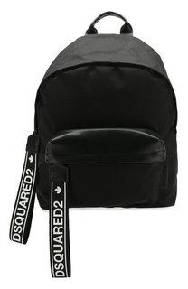Текстильный рюкзак с кожаной отделкой Dsquared2