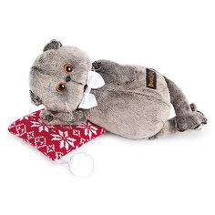 Мягкая игрушка Budi Basa Кот Басик на подушке, 18 см