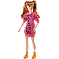 """Кукла Barbie """"Игра с модой"""" в вязаном розовом платье, 29 см Mattel"""
