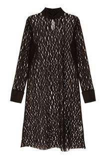 Платье сетчатое черное Lenigme