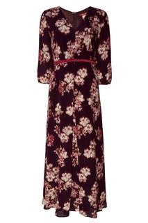 Фиолетовое платье с цветочным принтом MAX Mara