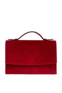 Замшевая красная сумка MAX Mara