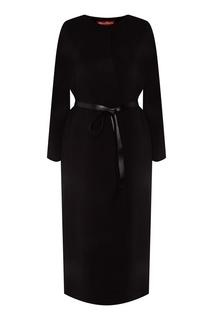 Черное пальто с длинными рукавами MAX Mara