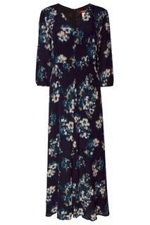 Синее платье с цветочным принтом MAX Mara