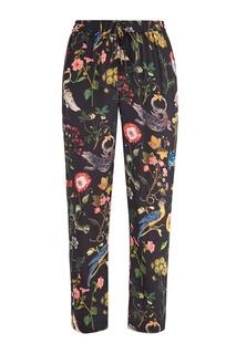 Шелковые брюки с принтом RED Valentino