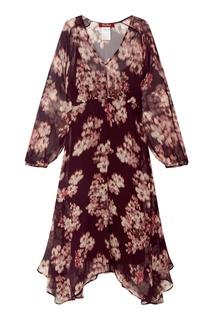 Шелковое платье с принтом MAX Mara