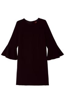 Черное платье миди с воланами MAX Mara
