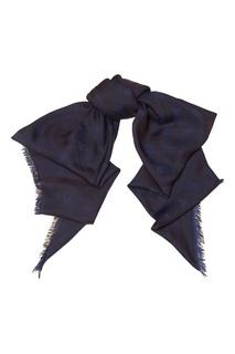 Синий платок с контрастным принтом MAX Mara