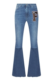 Джинсы-клеш с color block Dolce & Gabbana