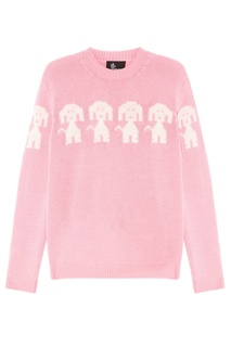 Розовый джемпер с собачками Moncler