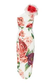 Платье с розовым принтом Dolce & Gabbana