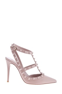 Розовые туфли Garavani Rockstud Valentino