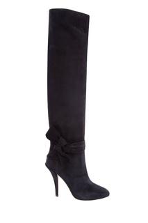 Черные замшевые ботфорты Garavani Valentino
