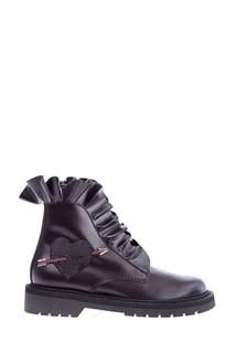 Кожаные ботинки Garavani Love Combat Boot Valentino