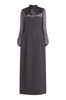 Длинное платье в горошек Valentino