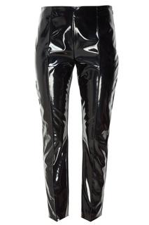 Черные виниловые брюки Valentino