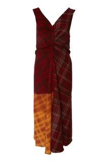 Клетчатое платье пэтчворк Acne Studios