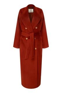 Рыжее пальто из мохера и шерсти Acne Studios