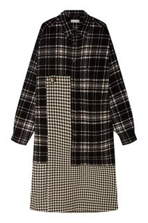 Шерстяное платье в контрастную клетку Balenciaga