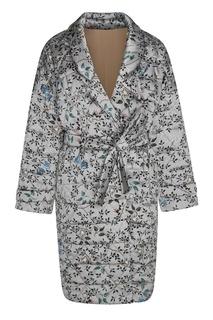 Шелковое пальто с цветочным принтом Alena Akhmadullina