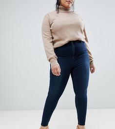 Темно-синие премиум-джинсы с завышенной талией ASOS DESIGN Curve Sculpt me - Синий
