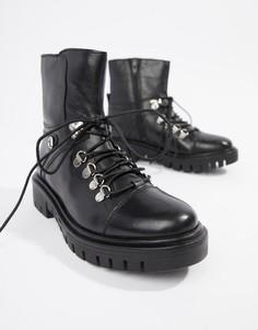 Кожаные походные ботинки Rule London - Черный