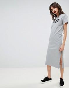 Платье-футболка с логотипом Hugo - Серый