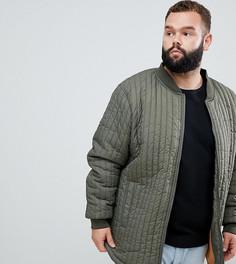 Зеленая стеганая куртка Replika Plus - Зеленый