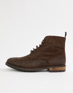 Коричневые ботинки на шнуровке Silver Street - Коричневый