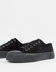 Замшевые кроссовки на плоской платформе Vagabond Ashley - Черный