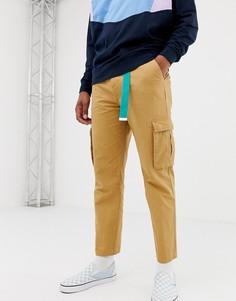 Светло-коричневые брюки карго COLLUSION - Коричневый