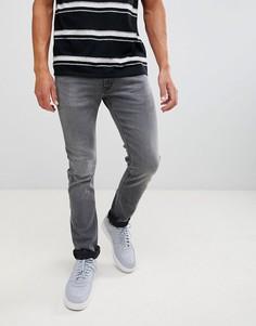 Серые узкие джинсы с суженными книзу штанинами Lee Jeans Luke - Серый