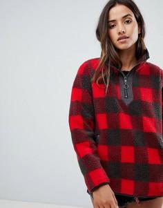 Куртка-пуловер из искусственного меха в клетку Abercrombie & Fitch - Мульти