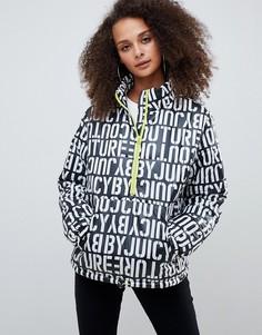 Дутая куртка с логотипом и короткой молнией Juicy By Juicy Couture - Мульти