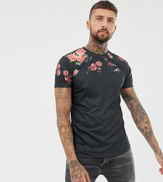 Обтягивающая футболка с цветочным принтом Mauvais - Черный