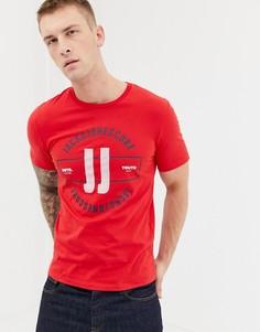 Футболка с принтом Jack & Jones Core - Красный