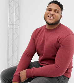 Красный меланжевый свитшот Burton Menswear Big & Tall - Красный