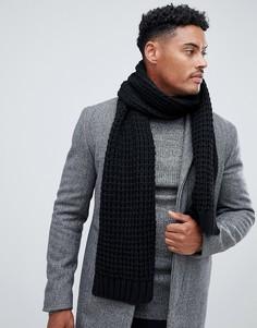 Черный вязаный шарф из переработанного полиэстера ASOS DESIGN - Черный