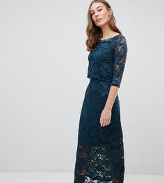 Кружевное платье миди Mamalicious nursing - Темно-синий Mama.Licious