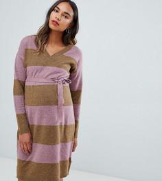 Платье-джемпер в полоску Mamalicious - Мульти Mama.Licious