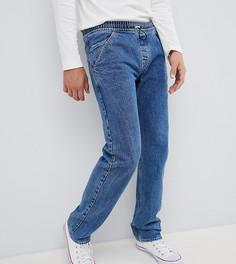 Синие джинсы прямого кроя с застежкой-тогл Noak - Синий