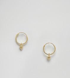Позолоченные серебряные серьги-кольца с шипами Kingsley Ryan - Золотой