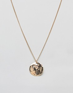Ожерелье с диском Nylon - Золотой