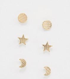 Набор серег-гвоздиков Nylon - Золотой