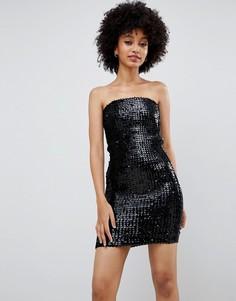 Облегающее платье с пайетками New Look - Черный