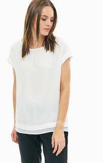 Белая футболка из вискозы оверсайз S.Oliver